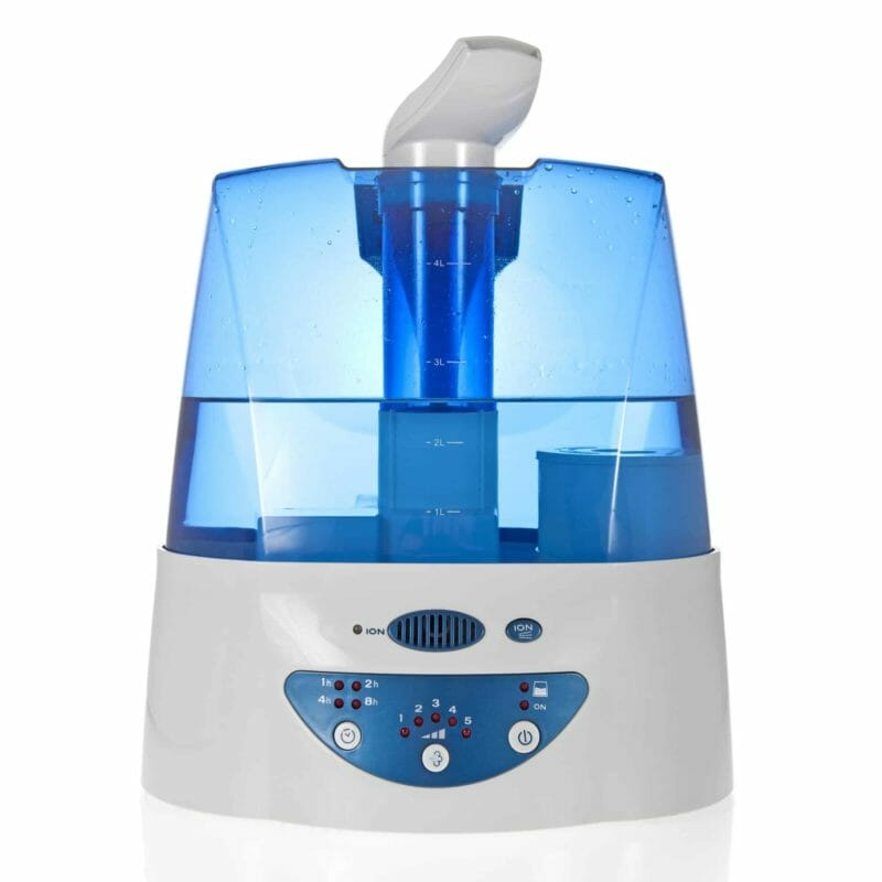 A humidifier with an ionizer